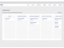 sQoot & Bike portal - overzicht werknemers kanban